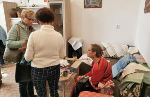 Členovia Maďarského združenia ľudového umenia v Terapeutickom centre