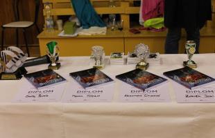 Poháre a diplomy-turnaj v Ostrave